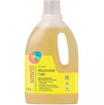 Органическое жидкое стиральное средство для цветных тканей Sonett. Концентрат. 1,5 л