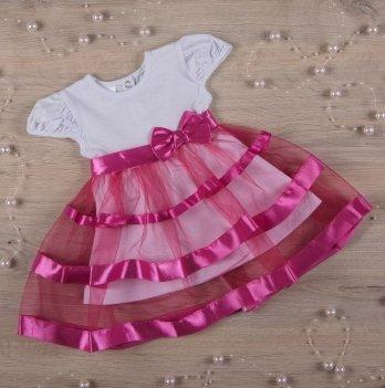 Платье Бетис Маленькая Леди кулир Малиновый 27072151 1,5-3 года