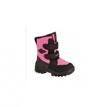 Полусапоги зимние для девочки Kuoma Crosser, Neon pink, на шерстяной подкладке