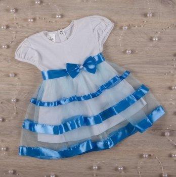 Платье Бетис Маленькая Леди кулир Голубой 27072127 1,5-3 года