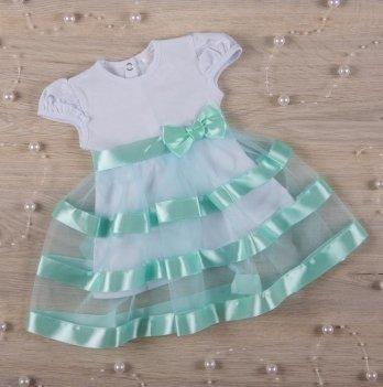 Платье Бетис Маленькая Леди кулир Бирюзовый 27073203 1,5-3 года