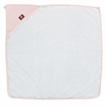 Полотенце с капюшоном Red Castle бело-розовый