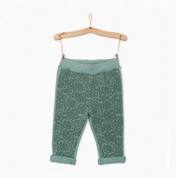Спортивные штаны для девочки iDO, мятные, с кружевом