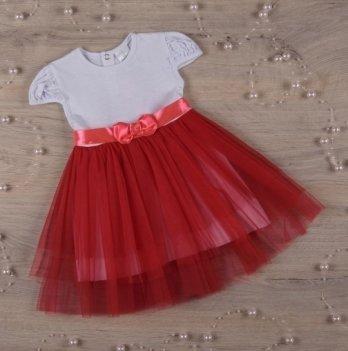 Платье Бетис Нежность кулир/фатин Красный 27075944