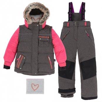 Зимний костюм (куртка и полукомбинезон) Deux par Deux Shinny Embossed - Charcol Grey Mix 197