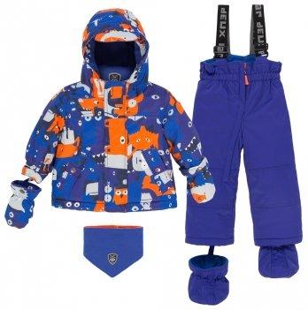 Зимний термокомплект для мальчика Deux par Deux Mechant Look, 469 - Clematis Blue