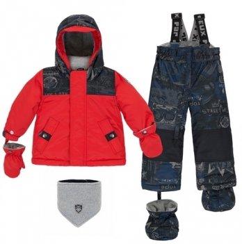 Зимний костюм (куртка и полукомбинезон) Deux par Deux Chinese Red N 504-744