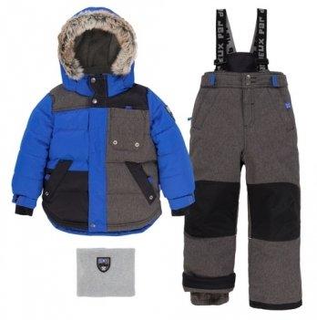 Зимний костюм (куртка и полукомбинезон) Deux par Deux Charcol Grey Mix Q 816-197