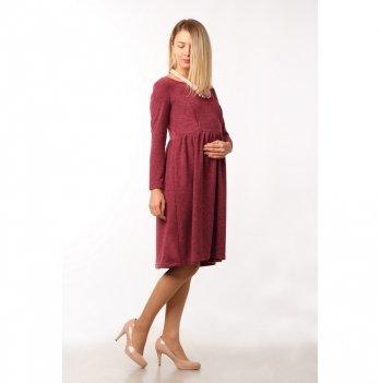 Платье для беременных и кормящих NowaTy В мягких объятьях Бордовый