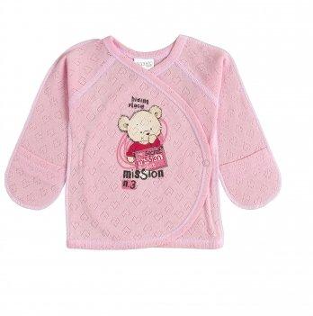 Распашонка Garden baby Секретная миссия Розовый сердечки 18135-88
