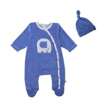 Комбинезон и шапочка Minikin 1817004 велюр синий