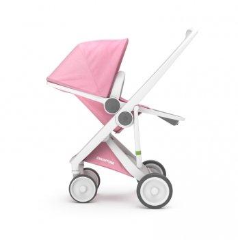 Коляска прогулочная Greentom Upp Reversible, белая/розовая