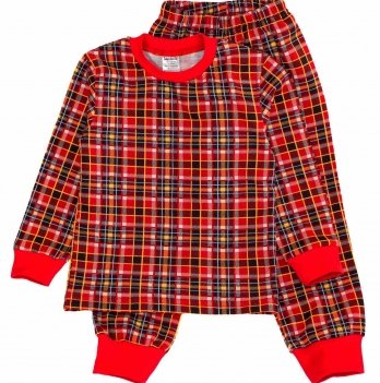 Пижама теплая Interkids, красная 1985