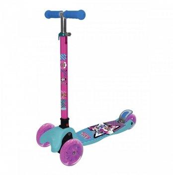 Самокат-скутер лицензионный L.O.L. Surprise, трехколесный, розовый с голубым