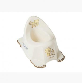 Горшок Tega baby Мишки, с антискользящим покрытием и с музыкой, белый