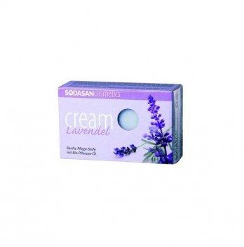 Органическое мыло-крем Sodasan Lavender, 100 г