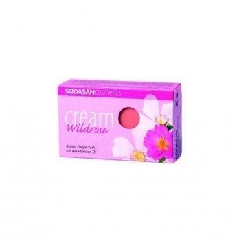 Органическое мыло-крем Sodasan Wild roses, 100 г