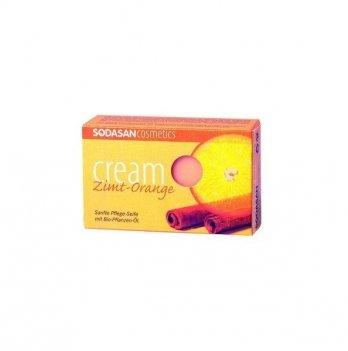 Органическое мыло-крем Sodasan Cinnamon-Orange, 100 г