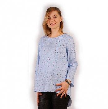 Блуза для беременных и кормящих NowaTy Круизный релакс Голубой