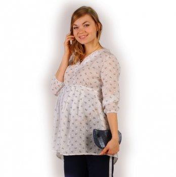 Блуза для беременных NowaTy Путешествие на облачке Белый
