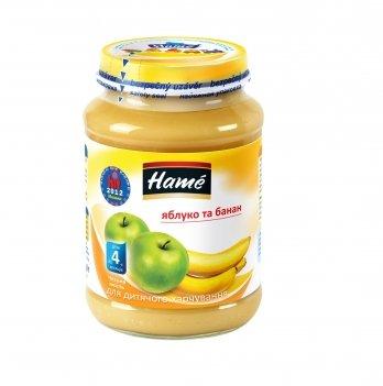 Пюре фруктовое Hame яблоко и банан 190 г