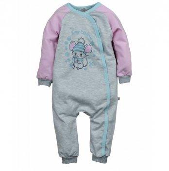 Пижама детская теплая Sweet Mario Серый/Розовый 3-08-15