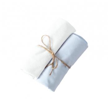 Пеленки непромокаемая и хлопковая Мамин Дом Little Bear Голубой 80х80 см 2 шт