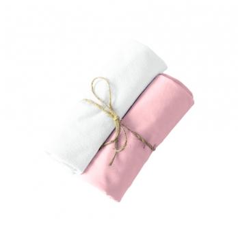 Пеленки непромокаемая и хлопковая Мамин Дом Little Bear Розовый 80х80 см 2 шт