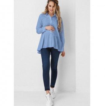 Рубашка для беременных и кормящих мам Dianora голубая 1915 0000