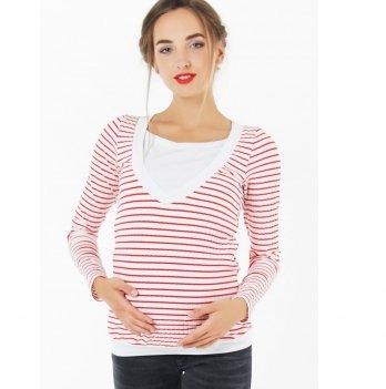 Джемпер для беременных и кормящих To Be Красный 4034525