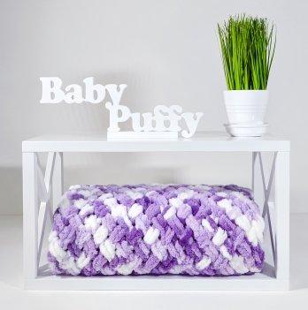 Плед плюшевый Дитятко ПУФФІ фиолетовый 80х90 см