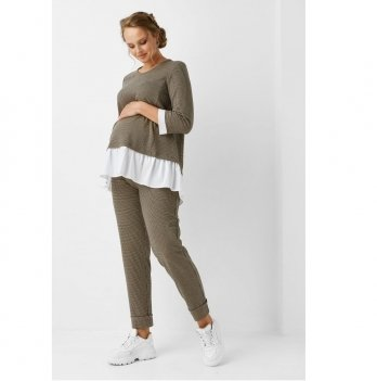 Блуза для беременных и кормящих мам Dianora 1958 1203 коричневый