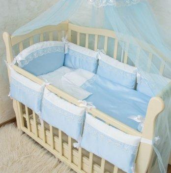 Комплект постельного белья в кроватку Бетис Премиум-7 Голубой 60х120 см