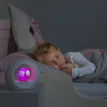 Ночник со звуковой активацией Zazu Cовёнок LOU, розовый