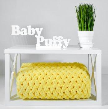 Плед плюшевый Дитятко ПУФФІ желтый 80х90 см