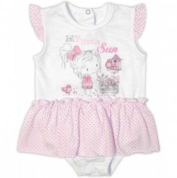 Боди-юбка Garden baby, розовый горох, 19802-03/35