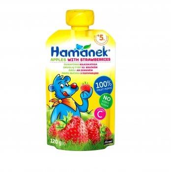 Пюре фруктовое Hame Hamanek яблоко с клубникой 120 г