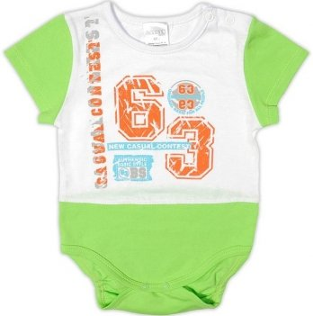 Боди-футболка для мальчика Garden baby, зеленый, 19907-03