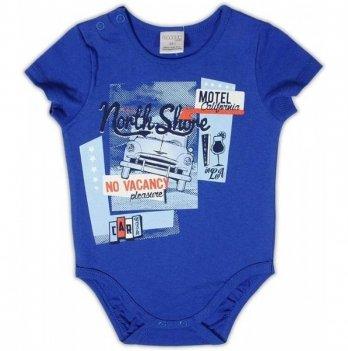 Боди-футболка Garden baby для мальчика, цвет электрик, 19910-03