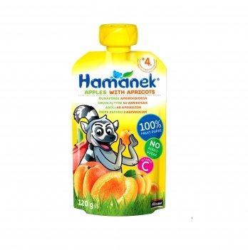Пюре фруктовое Hame Hamanek яблоко с абрикосом, 120 г