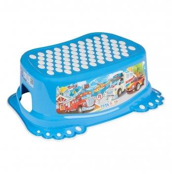 Ступенька детская Tega baby Авто Синий CS-006-120