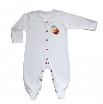 Человечек для новорожденных Lucky tots белый