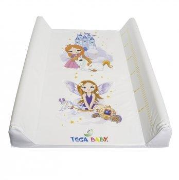 Пеленальный матрас Tega baby Принцессы Белый 50*70 см LP-009-103
