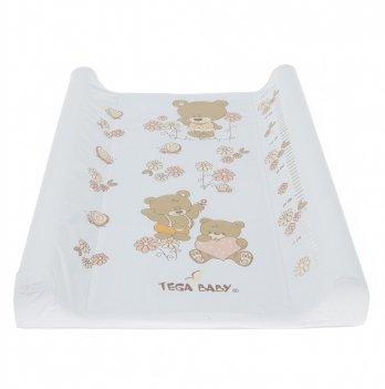 Пеленальный матрас Tega baby Мишки Белый 50*70 см MS-009-118