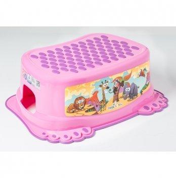 Ступенька детская Tega baby Сафари Розовый SF-013-127