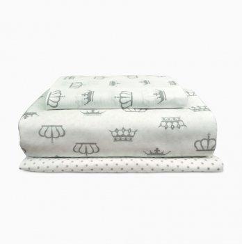 Комплект постельного белья Cosas Корона Горох 3 предмета