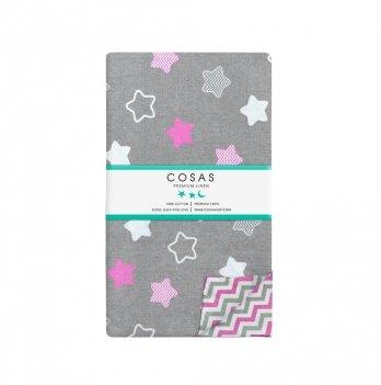 Детский пододеяльник Cosas Stars Pink 110х140 см