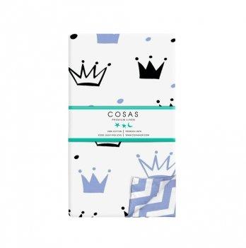 Детский пододеяльник Cosas Crown Blue Zigzag 110х140 см