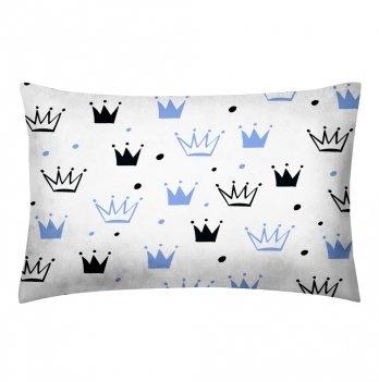 Детская наволочка бязь Cosas Crowns Blue 60х40 см