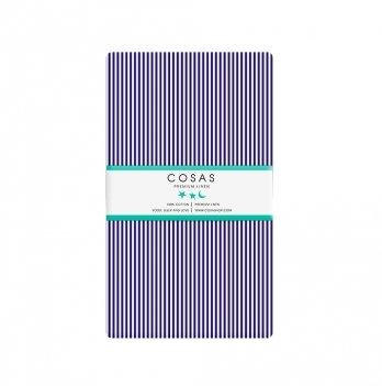Простынь на резинке бязь Cosas Полоса синяя 60х120 см